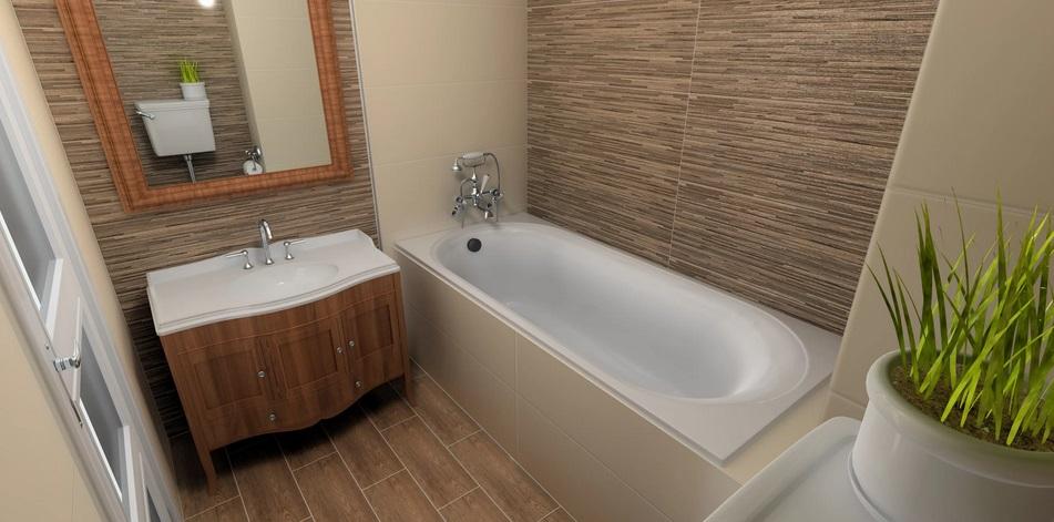 Кафель, имитирующий природные материалы для ванной