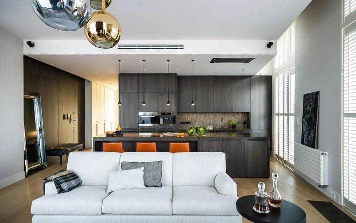 кухня-гостиная в современном стиле
