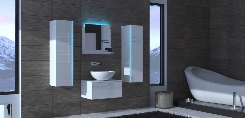 подвесная мебель в ванной