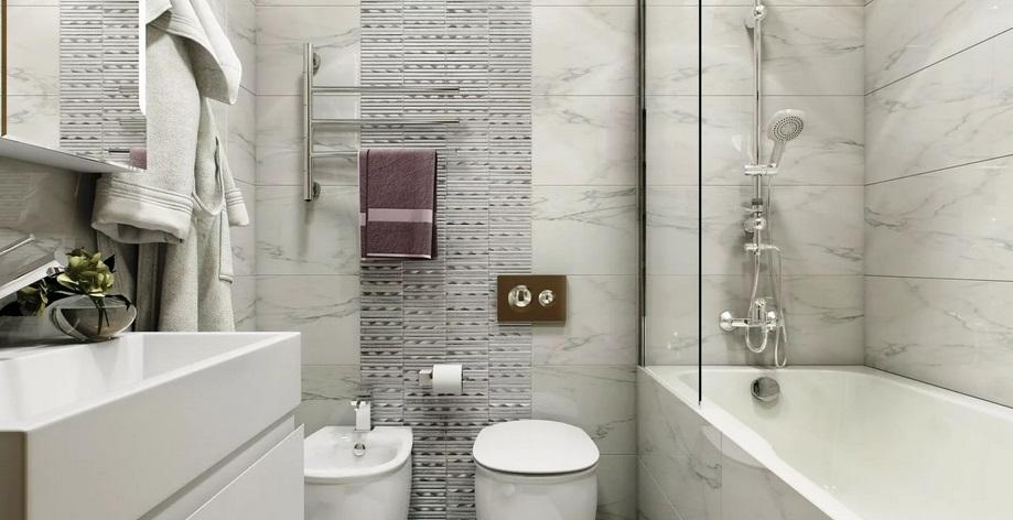 ванная в сером цвете