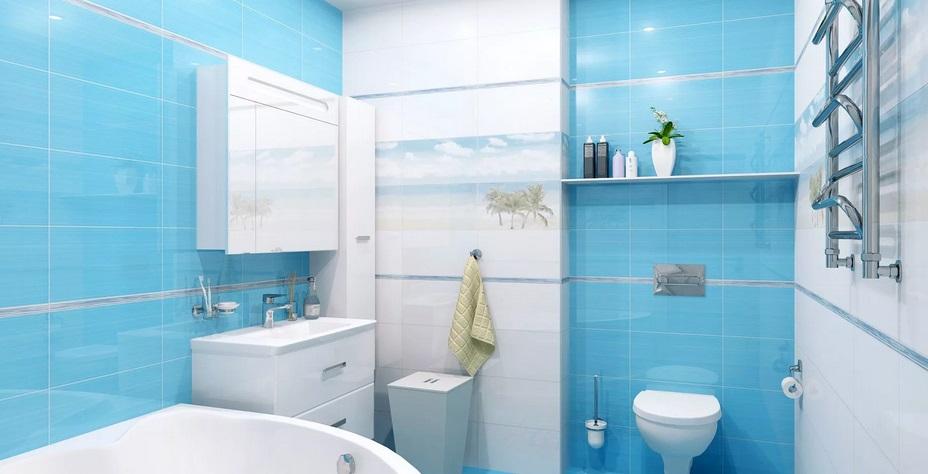 ванная в ярком цвете