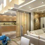 Правильное зонирование кухни-гостиной