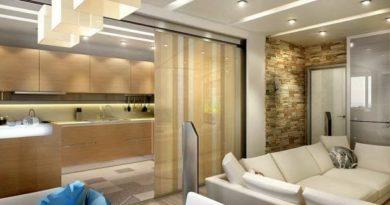 зонирование кухни-гостиной