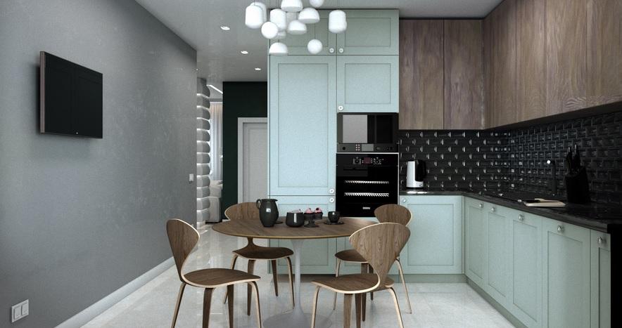 узкий коридор в кухню