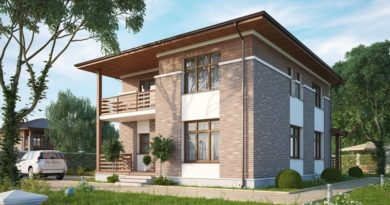 Дом 10х10 двухэтажный: планировка