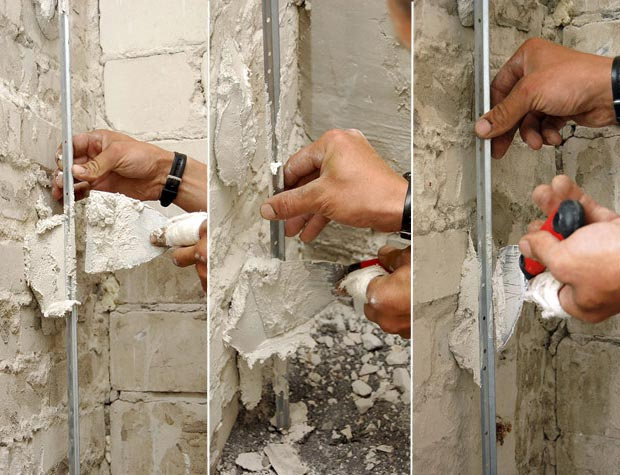 штукатурка стен под обои своими руками