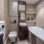 Дизайн ванной комнаты с туалетом-стильные и современные идеи