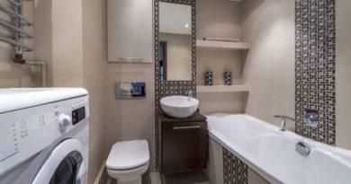 современная ванная комната с туалетом дизайн